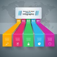 Geschäft Infographics-Origamiart Vektorillustration.