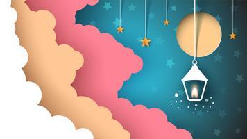 Wolke mit drei Farben. Taschenlampe, Sonne, Licht, Stern. vektor