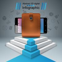 digital gadget, smartphone - business infographic.