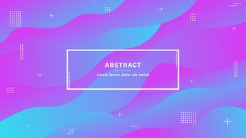 Moderna färger, geometrisk bakgrund med trendiga gradientsammansättning och enkla former