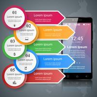 Digitales Gerät, Smartphone-Tablet-Symbol. Geschäft Infografik. vektor