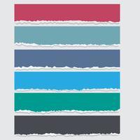 Vektorsatz farbige heftige Papierfahnen mit Raum für Text