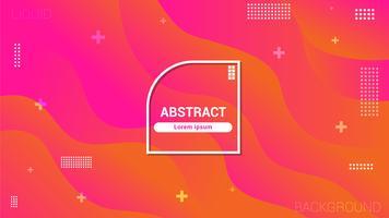 Fließender Stil, geometrischer Hintergrund mit trendiger Farbverlaufskomposition und einfachen Formen vektor