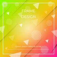 Geometrischer dynamischer diagonaler bunter Hintergrund mit Dreiecken und Kreisformen, Papierschatten vektor