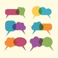 Vektorsatz bunte Spracheblasen