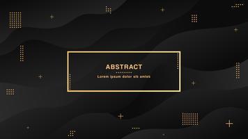 Schwarzer abstrakter flüssiger Hintergrund mit einfachen Formen mit modischer Steigungszusammensetzung