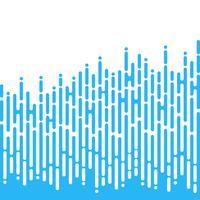 Blå oregelbundna rundade linjer i Mentis stil vektor