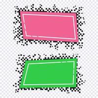 Pixelkonstdesign av banderoller vektor