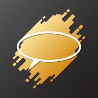 Element för design dynamisk rundad form med ovala pappersskuren speech bubble