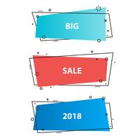 Trendiga marknadsföring affärer banderoller, klistermärken vektor