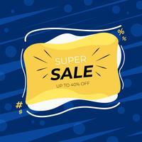 Försäljningsrabatt banner mall design