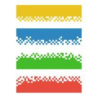 Satz Farbzusammenfassungspixel-Netzfahnen für Titel