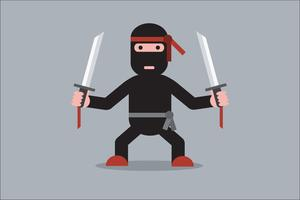 Ninja tecknad karaktär