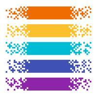 Sammlung abstrakte Farbpixel-Netzfahnen für Titel