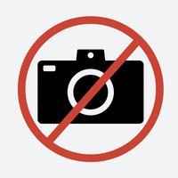 Kein Fotozeichen auf weißem Hintergrund
