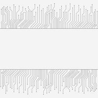 Kretskort, högteknologisk teknik banner, bakgrundsstruktur vektor