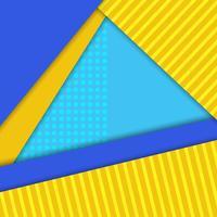 Material design vektor bakgrund, blå, gula färger