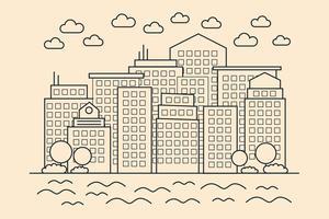 Moderne lineare Stadt vektor