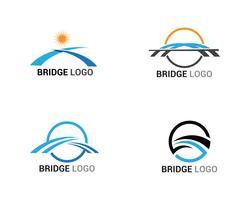 Bro logo och symbol vektor mall byggnad