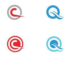 Q Brev Logo Mall vektor