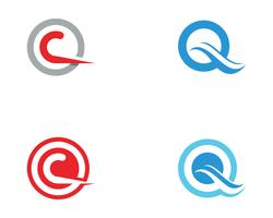 Q-Buchstabe Logo Template-Vektor