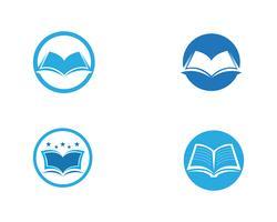 Bildungs-Buch Logo Template-Vektorillustration