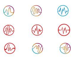 ljudvåg ilustrationlogo vektorikonen