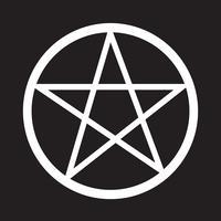 Pentagram ikon symbol tecken