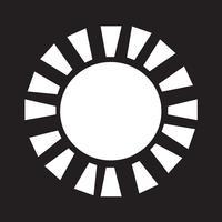 Symbol för teckensymbol för Sun Icon vektor