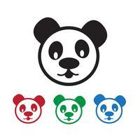 Panda Icon symbol tecken