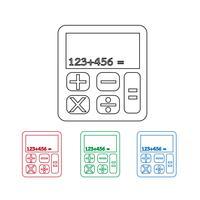 ikoner för miniräknare ikon vektor
