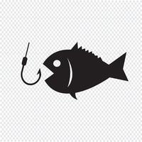 Fiske ikon symbol tecken