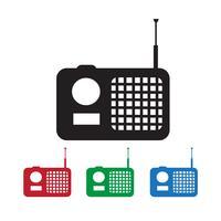 radio ikon symbol tecken