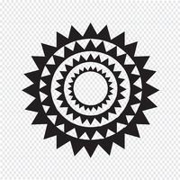 Sun Icon Symbol Zeichen vektor