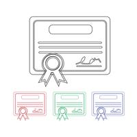 Zertifikat-Symbol Symbol Zeichen