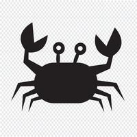 krabba ikon symbol tecken