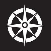 Kompass ikon symbol tecken vektor