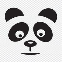 panda ikon symbol tecken
