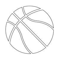 Basketball Symbol Symbol Zeichen