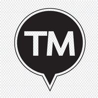 varumärkes knapp symbol tecken vektor