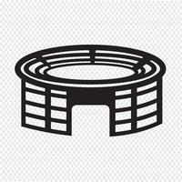Stadion Symbol Symbol Zeichen