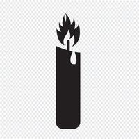 Stearinljus ikon symbol tecken