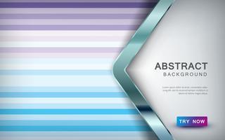 Abstrakt färgad bakgrund med pil överlappning lager och silver lista dekoration. vektor