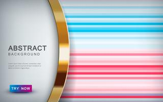 Zusammenfassung farbiger Hintergrund mit Deckschicht und goldener Listendekoration.