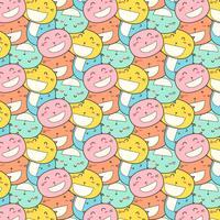 Katzenlächeln-Muster-Hintergrund. vektor