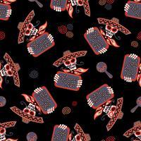 Tag der Toten. Nahtloses Muster. Vektor-illustration