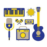Musikinstrument-Symbol vektor