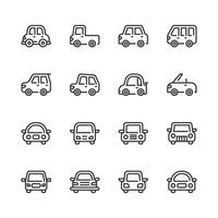 Autoikonenset. Vektorabbildung