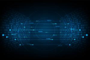 Vernetzung digitaler Systeme. vektor