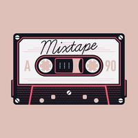 Mixtape-Kompakt-Audiokassette vektor